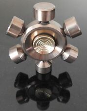 bronze colour wheel metal finger hand spinner fidget spinning toy steel bearing