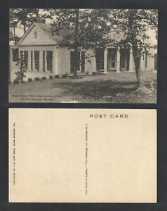 1940s-EAST-VIEW-THE-LITTLE-WHITE-HOUSE-WARM-SPRINGS-GEORGIA-POSTCARD