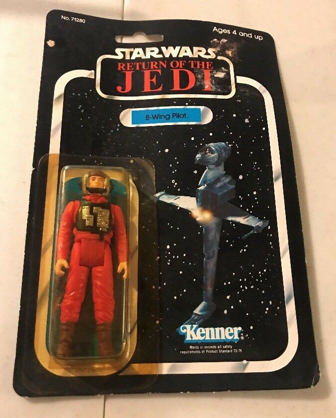1983 Star Wars Return of the Jedi B-Wing Pilot Kenner Action Figure ROTJ SEALED