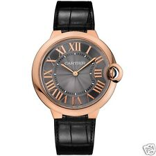 Cartier Ballon Bleu 40mm w6920089 18kt Rose Gold Grey Dial NEW Ret: $16,100