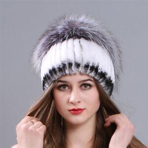 35c119b91490c Women s Fur Hat Real Rex Rabbit Fur Hat Caps Fashion winter hats ...