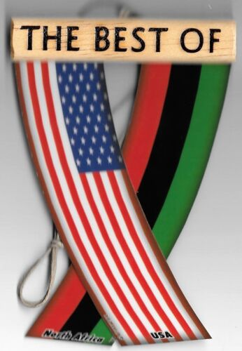 Details about  /Rear view mirror car flags North Africa and USA unity flagz for inside the car