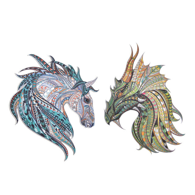 3D Horse Clothes Patch Sticker Iron on Transfers DIY Decoration Appliqued FF