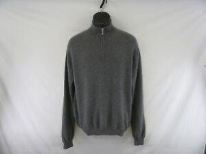 hombre 100 J Cashmere Suéteres ck738 para Hilburn 2 Zip gris 1 Tamaño L E4w5EqIxa