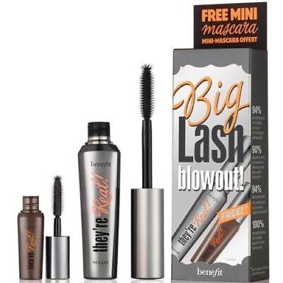 Benefit Big Lash Blowout Mascara Full Size and Bonus Mini Size (8.5g and 4g) NIB