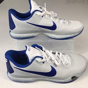 brand new 6676c a8e2a Details about New Nike Mens Sz 18 Royal Blue White Kobe X 10 TB Basketball  Shoes 813030 140