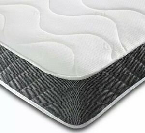 Single 3ft Double 4ft6 CASTLEFORD Memory Foam Mattress Quilted Sprung 5ft