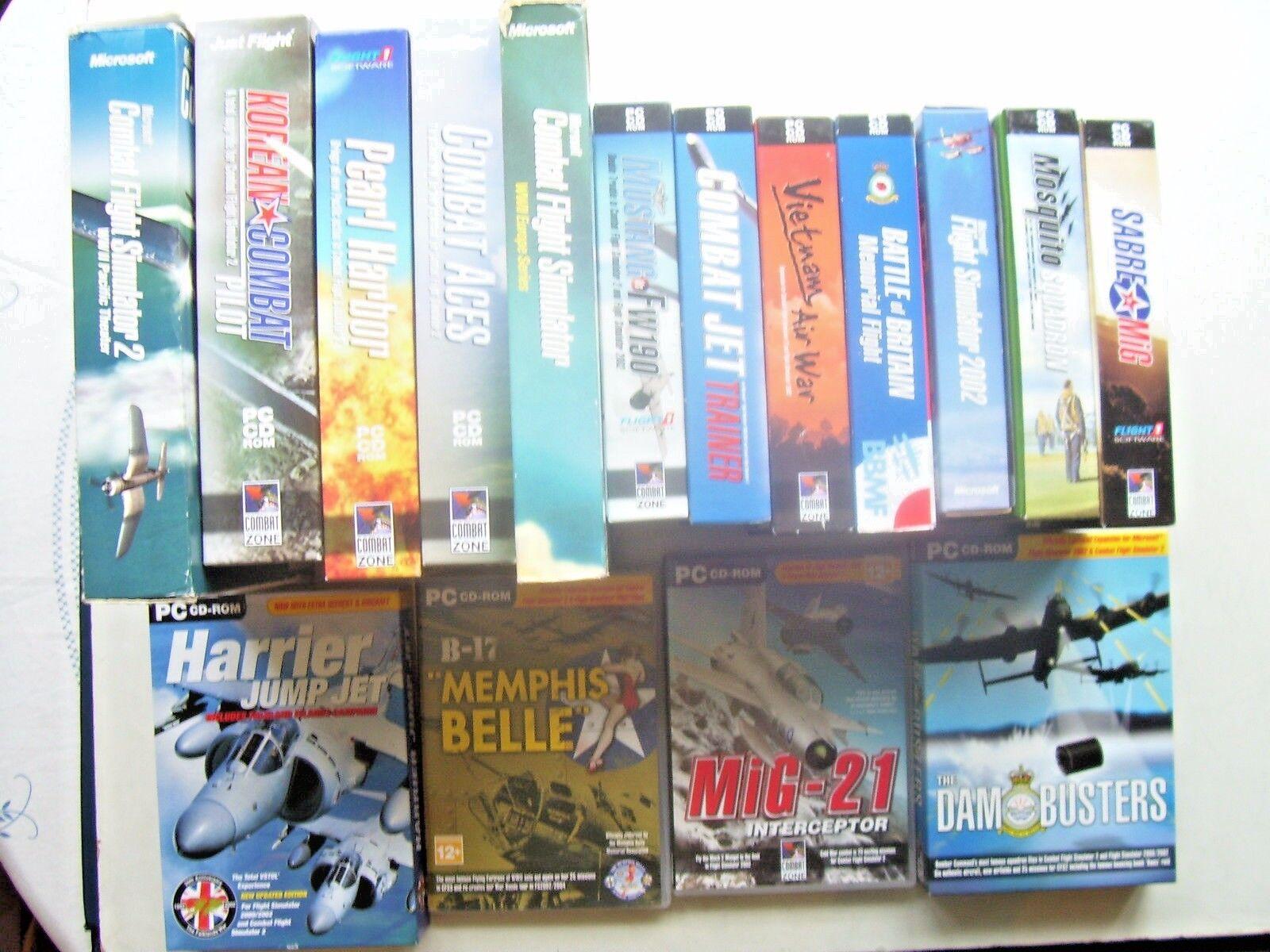 Simulador de vuelo  PC masiva Caja Grande Lote de Trabajo de juegos ultimate collection