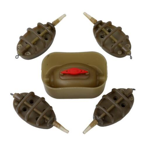 Inline Method Feeders Plus 1 Mould Set For Carp Fishing Tackle shan