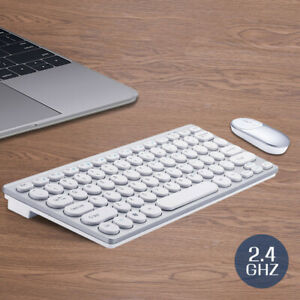 Wireless-Keyboard-And-Mouse-Combo-Set-2-4G-For-Mac-Apple-Pc-Full-Size-Slim-US