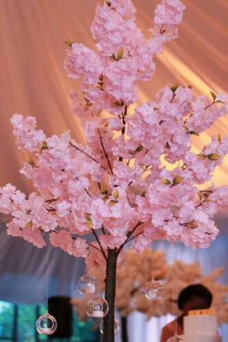 180cm  ARTIFICIAL BLOSSOM TREE WITH 520  FLOWERS IN PINK FOR HIRE