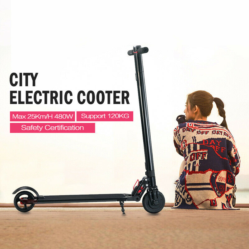 Max 480watt 20km H Pedal Scooter E-Roller Folding Electric