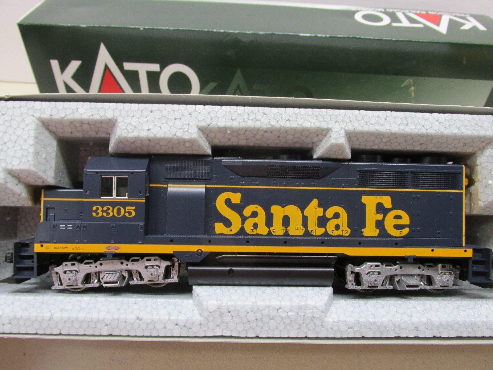 Kato   37-3022  - sf - santa fe gp35 betriebene lok   3305 - ho - skala