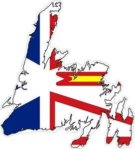 Newfoundland-Map-Flag-Decal-Sticker