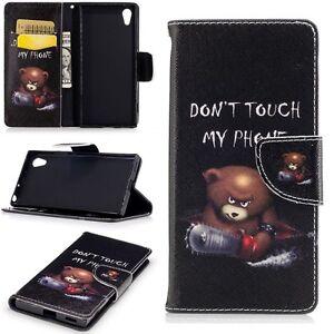 Portefeuille-de-poche-Premium-motif-21-pour-Sony-Xperia-XA1-etui-coque-Neuf