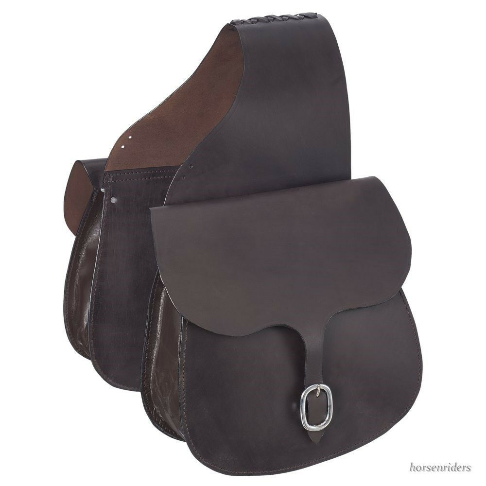Western  Saddle Bags - Dark Oil Leather  factory outlet