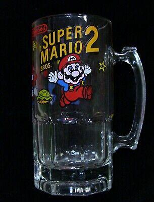 Nintendo Super Mario Bros 2 Glass Beer Mug Stein 8\