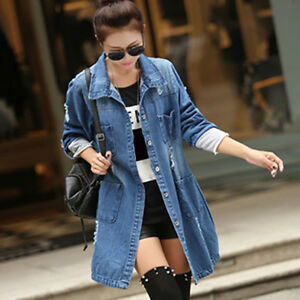 Fashion-Women-Loose-Blue-Jean-Jacket-Casual-Long-Denim-Coat-Plus-Size-S-5XL