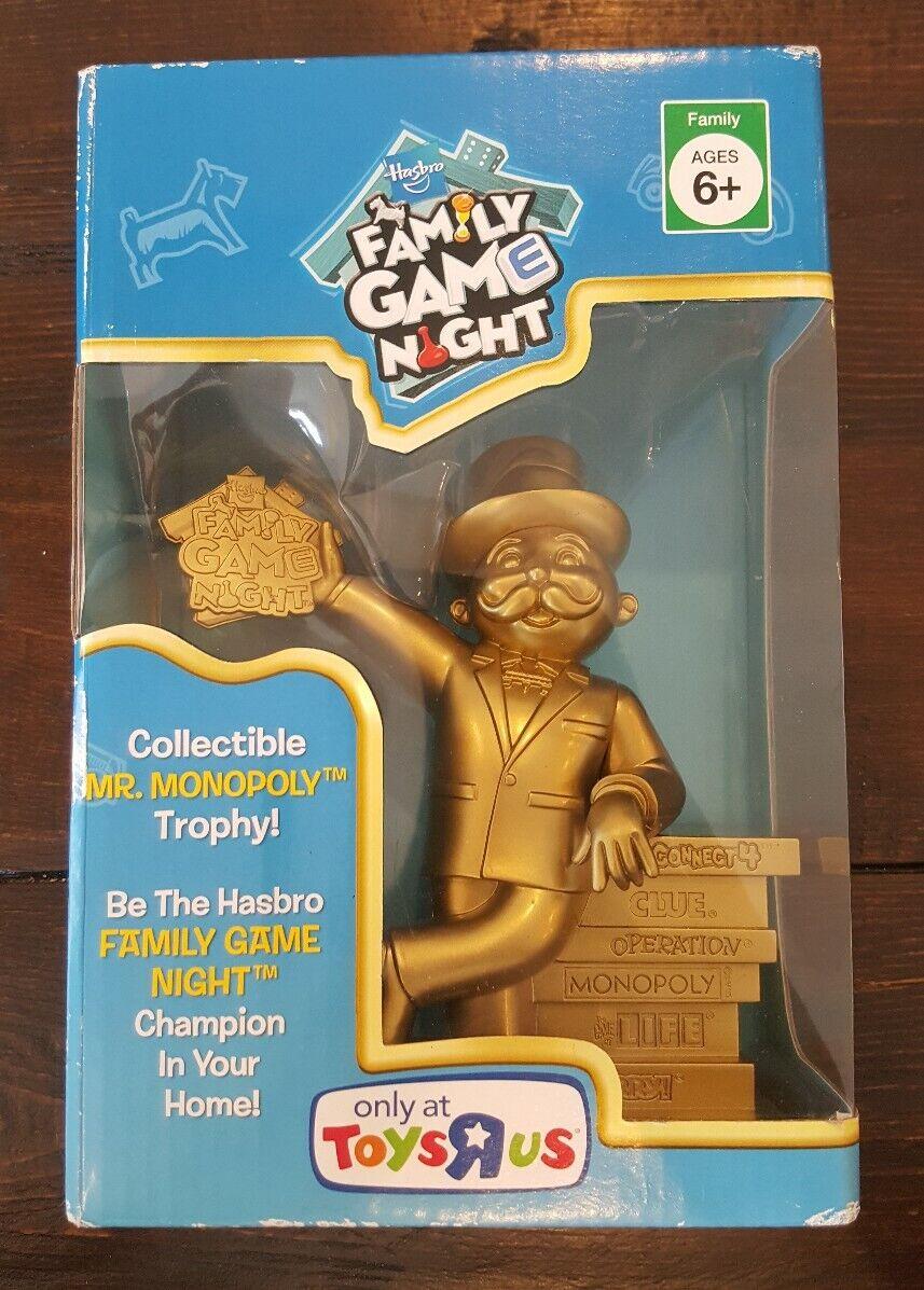 2009 Hasbro Family gioco  Night Mr. Monopoly Collectible oro Trophy giocattoli R Us  punto vendita