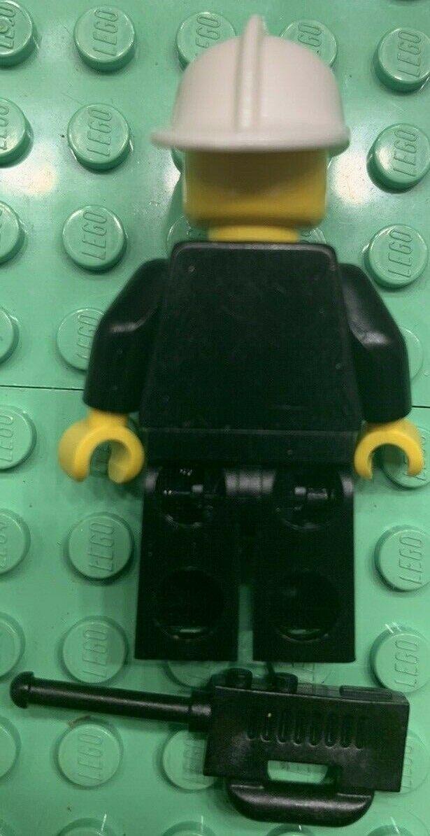 *NEW* 5 Lego Minifig Black Torso FIREFIGHTER Uniform Badge Stripes Radio Pattern