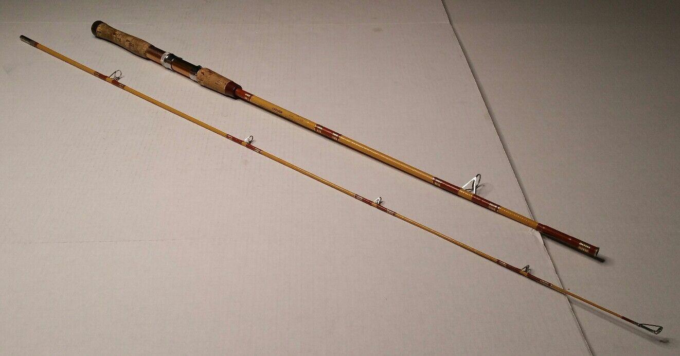 Horrocks Ibbotson Co 1314-Cascada de 2 piezas 80  caña de pescar Pole EE. UU. Vintage