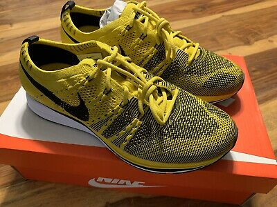 Nike Flyknit Trainer Citron And Black