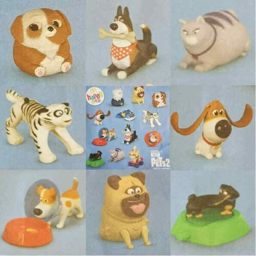 McDonalds Happy Meal Toy 2019 Secret Life Of Pets 2 Movie Toys Various