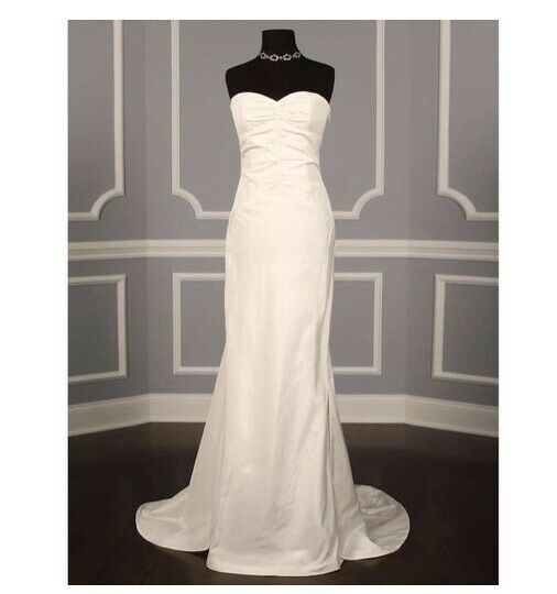 Nicole Miller Bridal Tara Wedding Dress Fj10001 Sz 8 For Sale Online Ebay