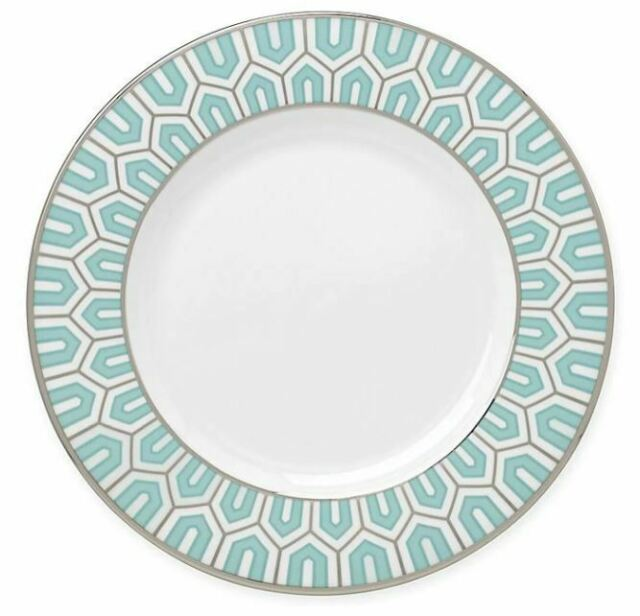 "BRIAN GLUCKSTEIN for LENOX   CLARA AQUA  Salad Plate  8"" new with tags"