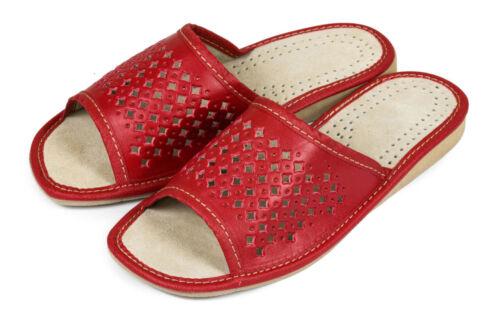 Damen schöne Pantoletten HausSchuhe Pantoffeln silbergrau rot braun 36-41 NEU