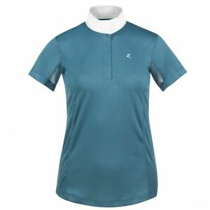 Horze-Blaire-Women-039-s-Short-Sleeve-Functional-Show-Shirt-with-UV-Protection