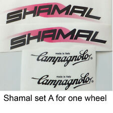 Campagnolo Shamal set A  decals Delta C-Record era one wheel only