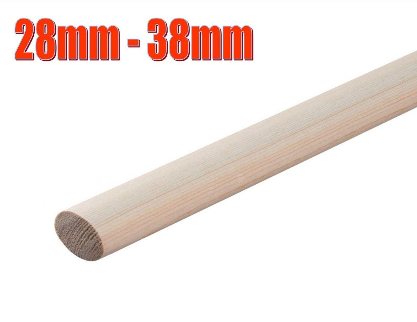 Wooden Hardwood Dowels clothes rail handrail broom handle 28mm 31mm 34mm 38mm