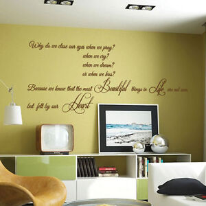 Details About Beautiful Things Art Quote Wall Stickers Words Phrases Home Bedroom Wall Decals