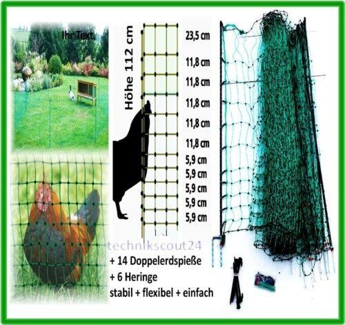 Kleintierzaun 112cm//50m grün Heimtierzaun Haustierzaun Gartenzaun Hunde Garten