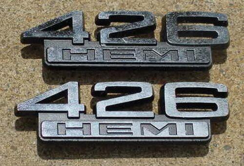 1966 1967 68 Mopar 426 Hemi Emblems Charger Coronet 500 R//T Satellite Belvedere