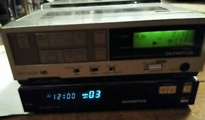 Vintage-Olympus-VC-106-VHS-Portable-Video-Cassette-Recorder-and-VR-208-base-Read