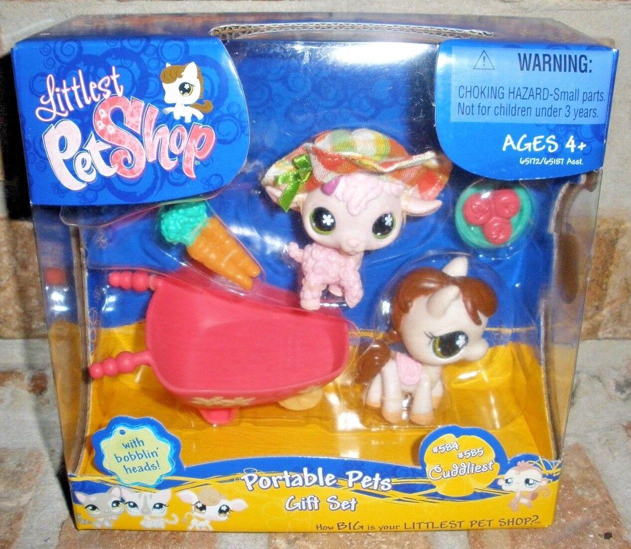 Littlest Pet Shop HORSE HORSE HORSE pony LAMB 584 585 farm GIFT SET 2007 VHTF ad8ebc