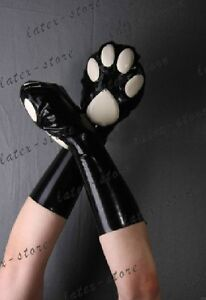 689 Latex Gummi Rubber Cat Gloves Mittens Customized Catsuit 0 4mm