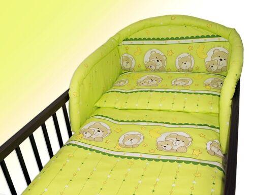 Nuevo Cuna Protector de para Habitación Juego Ropa Cama Bebé,Diseños 120x60