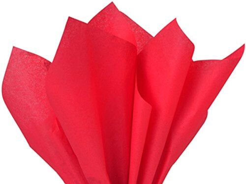 100 Sheets Brand New Solid Red Bulk Tissue Paper 15 Inch x 20 Inch