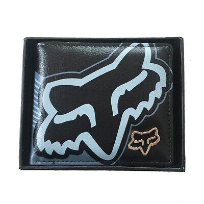 Neuf Avec Boîte Homme FOX Surf En Cuir Synthétique Noir Portefeuille Grand Cadeau #14