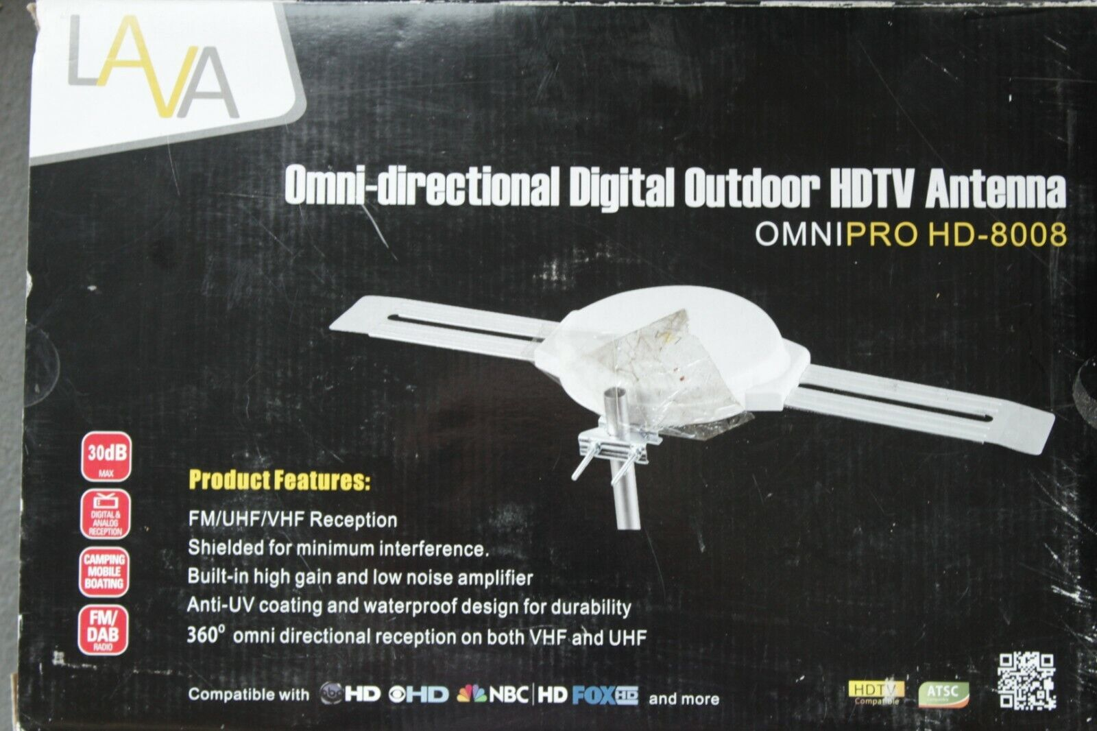 Lava HD8008 Omnidirectional Outdoor HD TV Antenna for RV Mobile Home . Available Now for 42.00