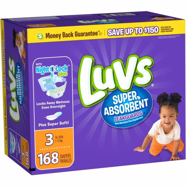 Luvs Ultra Leakguards Disposable Baby Diapers 172 Count Size 4 One Month Supp