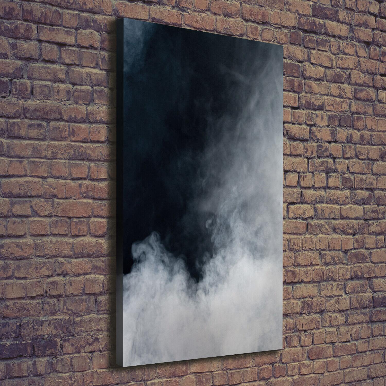 Leinwand-Bild Kunstdruck Hochformat 70x140 Bilder Weißer Rauch