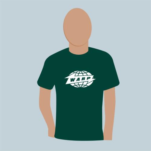 WARP RECORDS premium T shirt Electro Electronic IDM Experimental FREEPOST UK