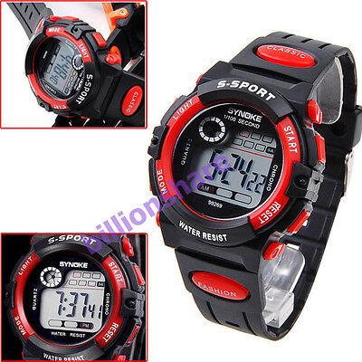 Fashion Men's Boys' Date Alarm Stopwatch Sports LED Digital Rubber Wrist Watch