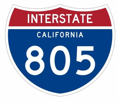 Interstate 805 Sticker Decal R959 Highway Sign
