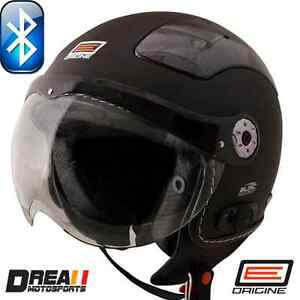 ORIGINE-BLUETOOTH-MATTE-FLAT-BLACK-SOLID-OPEN-FACE-MOTORCYCLE-HELMET-DOT-XS-XL