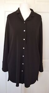 Shirt Size M Black Uk Lux Tunic New Crepe Marlawynne Bnwt qtBXI